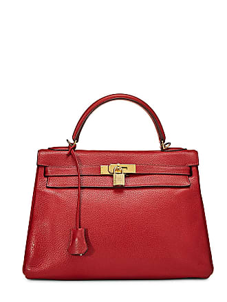 Hermès Kelly Retourne 32 Clemence Bag, Rouge Casaque
