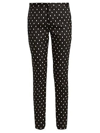 Giambattista Valli Slim Leg Spot Jacquard Twill Trousers - Womens - Black Multi