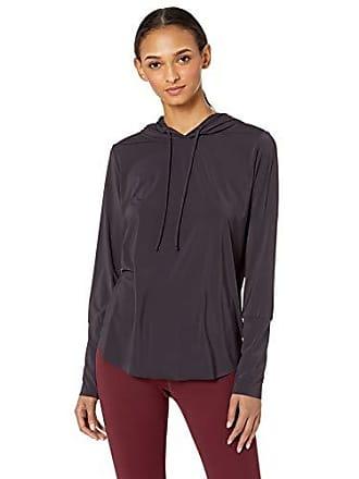 Maaji Womens Hooded Long Sleeve Technical Top, Waves Mulberry Purple, Large