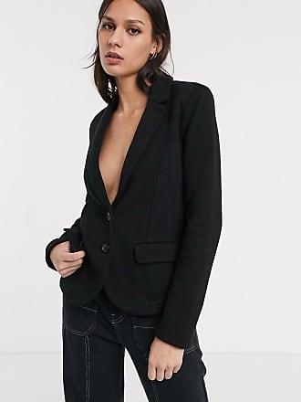 Whistles slim jersey blazer in black
