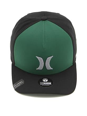 Hurley Boné Hurley Locked Nike Dri-Fit Verde Preto ed9ea96074e