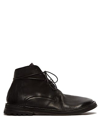 Marsèll Grained Leather Boots - Mens - Black