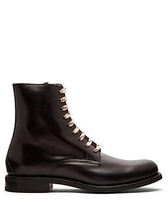 982d4a2af0d Gucci Lace Up Leather Boots - Mens - Black