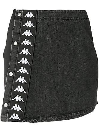 Kappa logo fitted mini skirt - Black