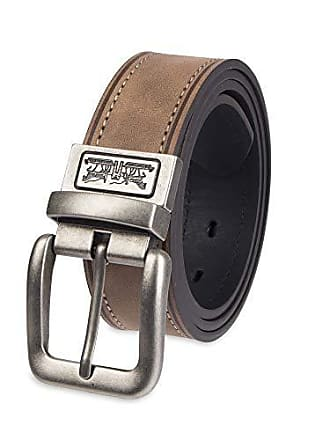 Levi's Mens 1.5 in. Reversible Leather Belt With Logo, tan/black, Small