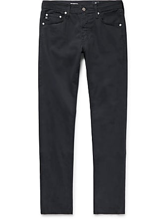 AG - Adriano Goldschmied Stockton Skinny-fit Brushed Stretch-cotton Trousers - Midnight blue