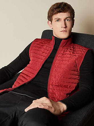 Ted Baker Quilted Jersey Gilet in Red RAPIDS, Mens Clothing