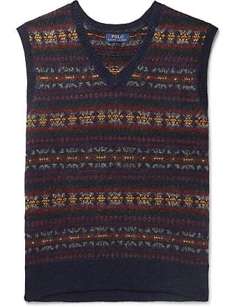 Polo Ralph Lauren Fair Isle Wool-blend Jacquard Sweater Vest - Navy