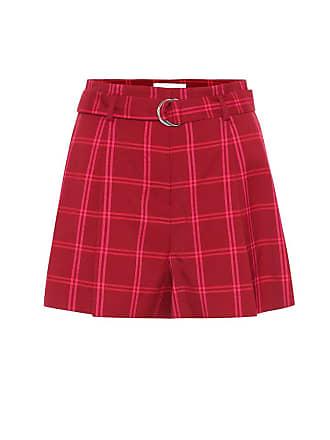 Jonathan Simkhai High-rise checked shorts