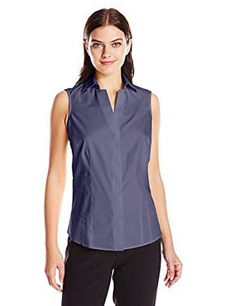 Foxcroft Womens Taylor Sleeveless Non Iron Shirt, Classic Navy, 4