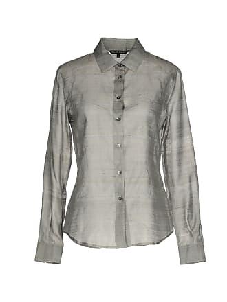 satijnen blouse grijs
