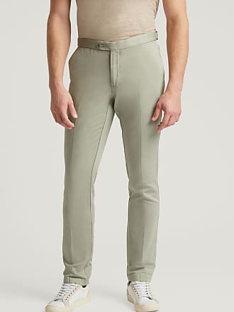 Hackett Mens Cotton-Linen Slim Fit Trousers   Size 30R0   Strawberry