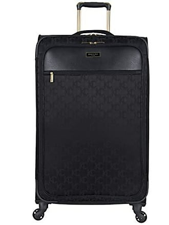 Kenneth Cole Reaction Kenneth Cole Reaction KC-Street 28 Lightweight Softside Jacquard Expandable 4-Wheel Spinner Checked Suitcase, Black
