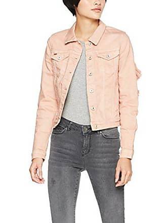 Only Onlflair LS Colour Frill Jacket PNT, Veste en Jean Femme, Rose (Misty 499124a52595