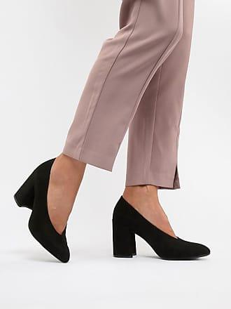 Qupid Qupid Block Heel Pointed Shoes - Black