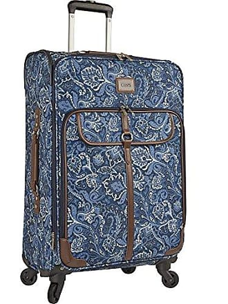 Chaps 20 Expandable Carry On Spinner Luggage, Indigo Paisley
