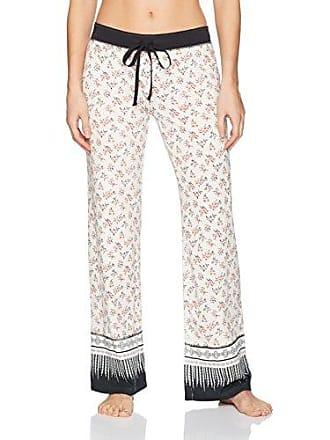 PJ Salvage Womens Open Leg Sleepwear Pajama Pant, Vintage Finds Lounge Ivory Large