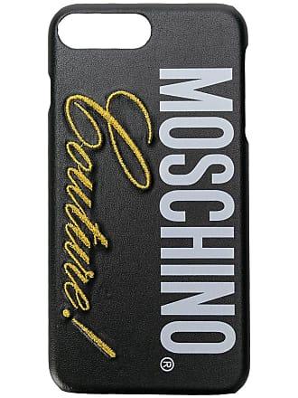 Moschino iPhone 8 plus logo case - Black