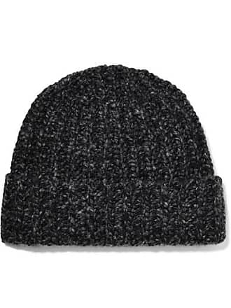 76d3d843056e5 Johnstons of Elgin Donegal Ribbed Cashmere Beanie - Charcoal