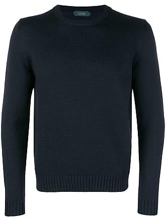 Zanone round neck sweater - Black