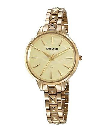 Seculus Relógio Seculus Feminino Ref: 77029lpsvds1 Fashion Dourado
