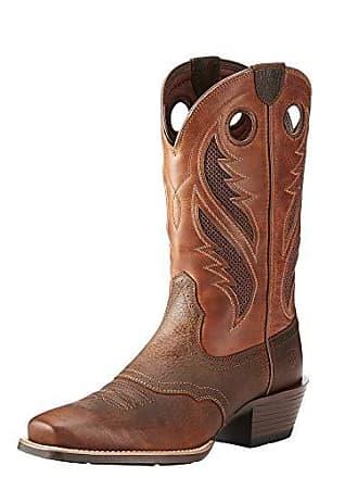 Ariat Ariat Mens Venttek Narrow Square Toe Ultra Western Boot, Brown Oiled Rowdy/Two Tone tan, 8 E US