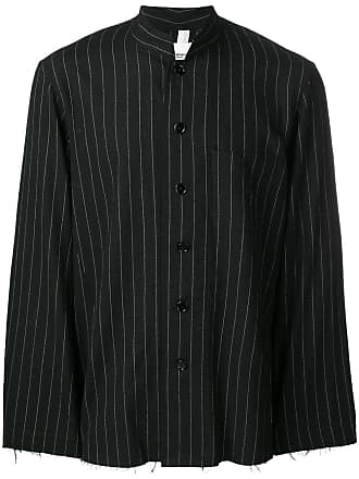 TAKAHIROMIYASHITA TheSoloist. oversized striped shirt - Preto