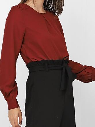 Vero Moda Blusa Vero Moda Pregas Marrom