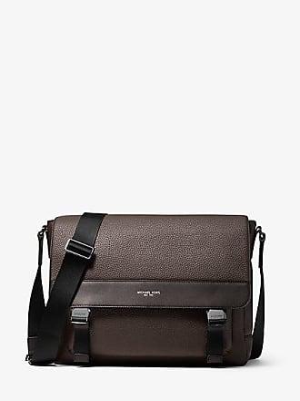 8e9d3fcb23a9 Michael Kors Mens Greyson Pebbled Leather Messenger Bag