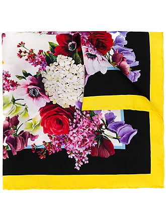 Dolce & Gabbana classic floral square scarf - Black