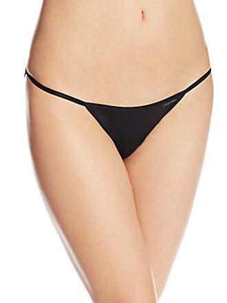 0fd4bd53697b Calvin Klein Womens Sleek String Bikini Panty, Black, Large