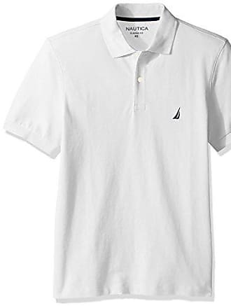 19c6204192e63 Nautica Mens Short Sleeve Solid Cotton Pique Polo Shirt
