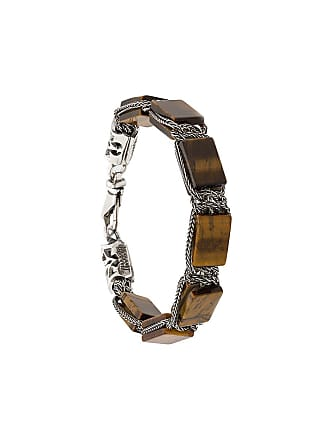 Emanuele Bicocchi square bead chain bracelet - Marrom