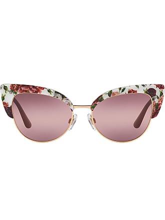 Dolce & Gabbana Eyewear cat-eye floral sunglasses - Branco