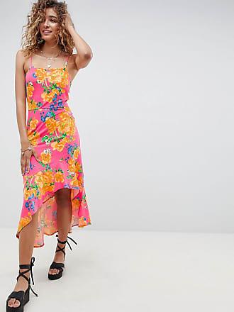 1bcdc93e4f97 Asos Robe longue mulet style caraco à motif floral aux couleurs vives -  Multi
