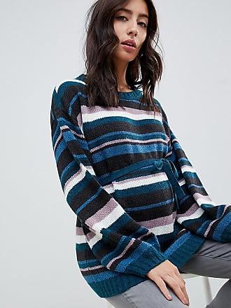 Mama Licious Mamalicious maternity knitted stripe sweater - Multi