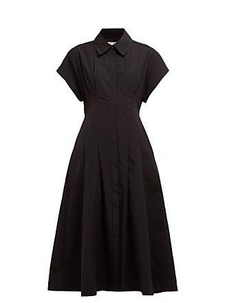 Three Graces London Alette Cut Out Cotton Shirtdress - Womens - Black