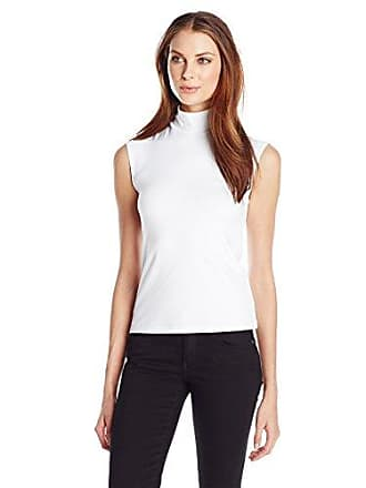 Only Hearts Womens Delicious Sleeveless Turtleneck, White, Small