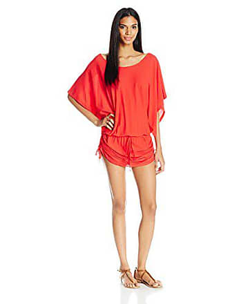 Luli Fama Womens Cosita Buena South Beach Dress Cover Up, Girl On Fire, XS