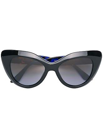 Emmanuelle Khanh cat eye frame sunglasses - Preto