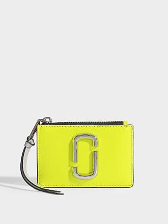 c198cc93897cdb Marc Jacobs Portefeuille Snaphshot Top Zip Multi en Cuir avec Revêtement en  Polyuréthane Jaune Fluo