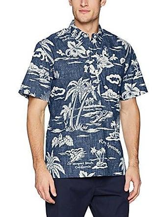 9411457c Reyn Spooner Mens Spooner Kloth Classic Fit Pullover Hawaiian Shirt, My  Private Isle-Ink