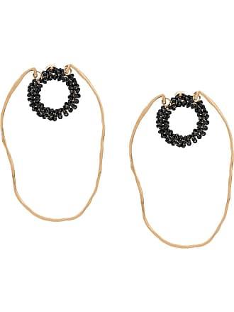 Jacquemus hoop earrings - Preto
