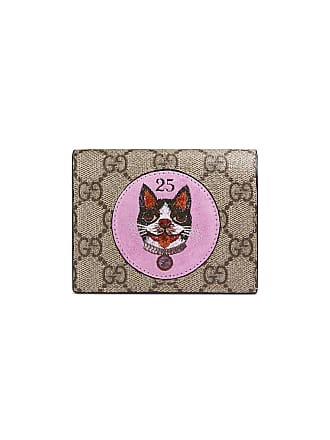 Gucci portefeuille GG Supreme à patch Bosco - Marron 0a7b77fa398