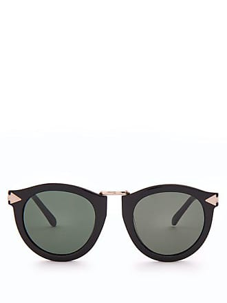 5424009eed Karen Walker Eyewear Harvest Round Acetate Sunglasses - Womens - Black