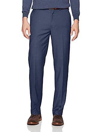 Dockers Mens Straight Stretch Signature Dress Pant, Blue Heather, 32W x 32L
