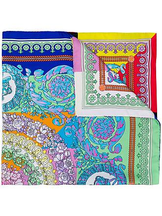 8998eb7f11 Versace baroque floral print scarf - Purple