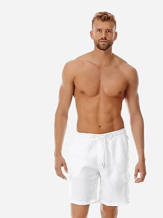 Vilebrequin Men Ready to Wear - Men Cargo Linen Bermuda Shorts Solid - BERMUDA - BAIE - White - XXXL - Vilebrequin
