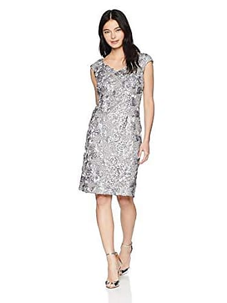 8079575fd2f Alex Evenings Womens Shift Midi Lace Embroidered Dress (Petite and  Regular)
