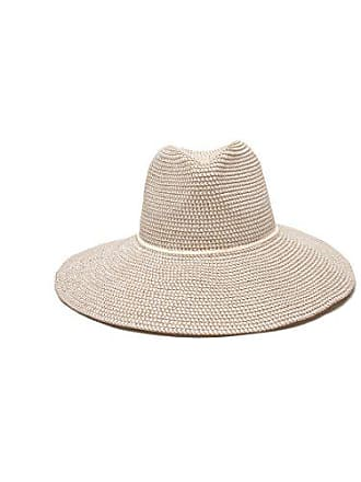 ále by Alessandra Womens Sancho Adjustable Toyo Hat with Leather Trim, White Tweed, Adjustable Head Size